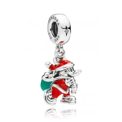 Pandora 797501ENMX Charm Pendant Santa Mickey & Gift Bag 5700302692594