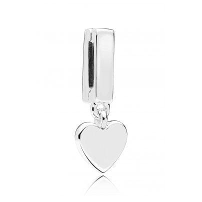 Pandora 797643 Reflexions Clip-Anhänger Floating Heart Silber 5700302698299