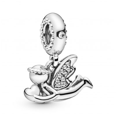 Pandora 798484C01 Silver Charm Pendant Angel of Love 5700302827293