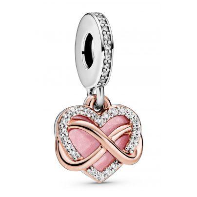 Pandora 788878C01 Rose Charm-Anhänger Funkelndes Unendlichkeits-Herz 5700302869392