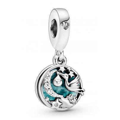 Pandora 798895C01 Silver Dangle Charm Stork & Twinkling Stars 5700302869750