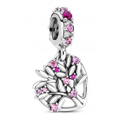 Pandora 799153C01 Silber Charm-Anhänger Pinkfarbenes Herz Familienbaum 5700302899214