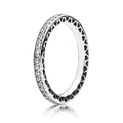 Pandora 190963CZ Damen-Ring Unendliche Herzen