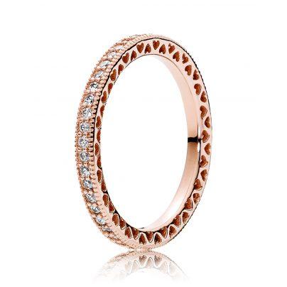 Pandora 180963CZ Ring für Damen Unendliche Herzen Rosé