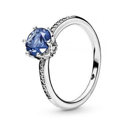 Pandora 198289NSWB Damen-Ring Blue Sparkling Crown