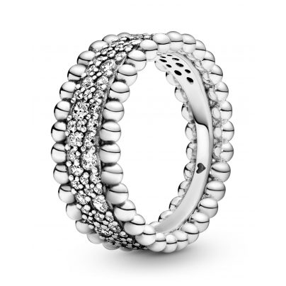Pandora 198676C01 Damenring Beaded Pavé Band