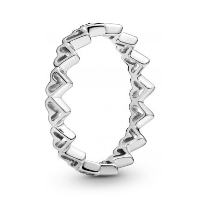 Pandora 198696C00 Damen-Ring Freehand Herzen