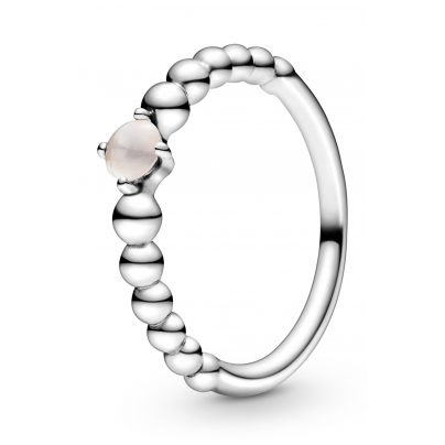 Pandora 198867C06 Ladies' Ring Misty Rose Beaded