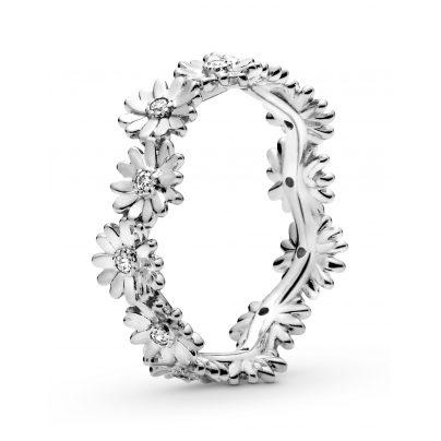 Pandora 198799C01 Silber Damenring Funkelnde Gänseblümchen-Krone