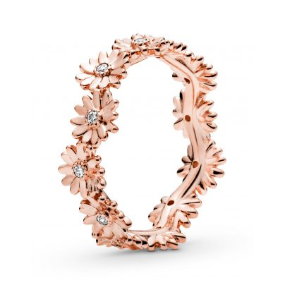 Pandora 188799C01 Rose Damen-Ring Funkelnde Gänseblümchen-Krone