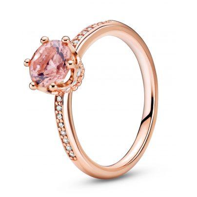 Pandora 188289C01 Rose Ring für Damen Rosa Funkelnde Krone