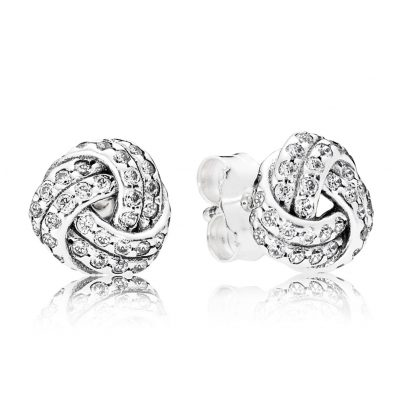 Pandora 290696CZ Earrings Sparkling Love Knot 5700302437201