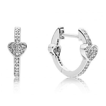 Pandora 297290CZ Damen-Creolen Alluring Hearts 5700302662320