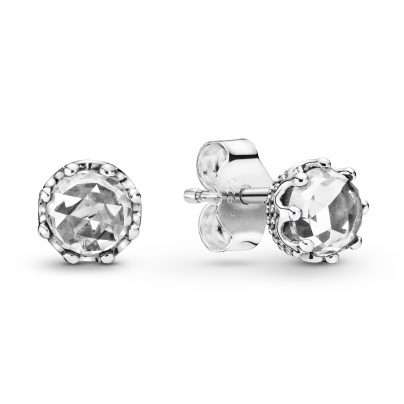 Pandora 298311CZ Damen-Ohrstecker Clear Sparkling Crown 5700302817560