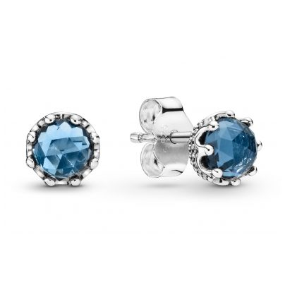 Pandora 298311NMB Damen-Ohrstecker Blue Sparkling Crown 5700302817577