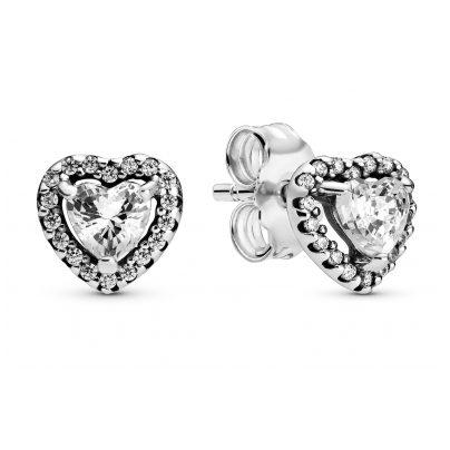 Pandora 298427C01 Damen-Ohrstecker Elevated Hearts 5700302826241