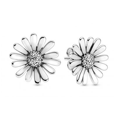 Pandora 298812C01 Ladies' Stud Earrings Pavé Daisy Flower Silver 5700302863697