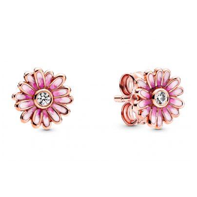 Pandora 288773C01 Rose Ladies' Stud Earrings Pink Daisy Flower 5700302863680