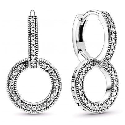 Pandora 299052C01 Funkelnde Doppel-Ohrringe Silber 5700302886740