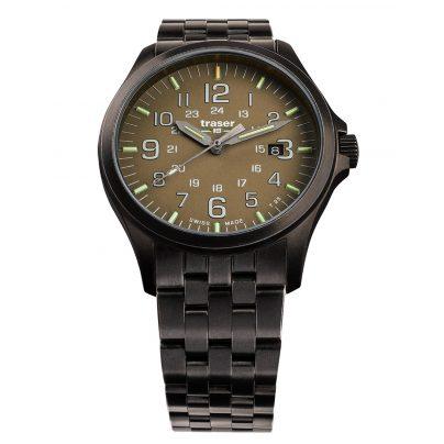 traser H3 108738 Men´s Wristwatch P67 Officer Pro Gunmetal/Khaki 7630027704167