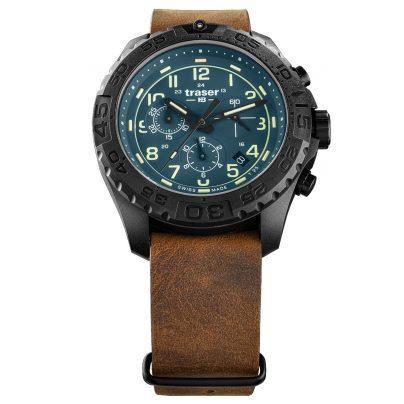 traser H3 109049 Herren-Armbanduhr P96 OdP Evolution Chrono Petrol 7630027704365