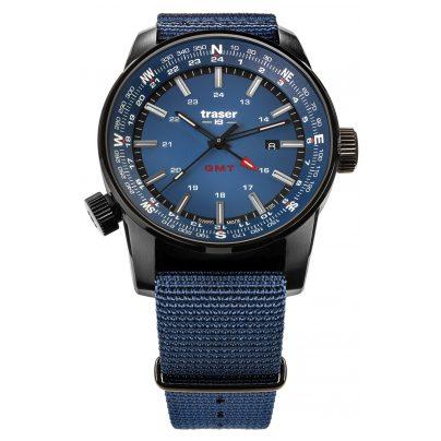 traser H3 109034 Herrenuhr Pathfinder GMT Blau 7630027704211