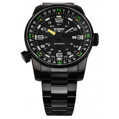 traser H3 109522 Herren-Automatikuhr P68 Pathfinder Schwarz 7630027704723