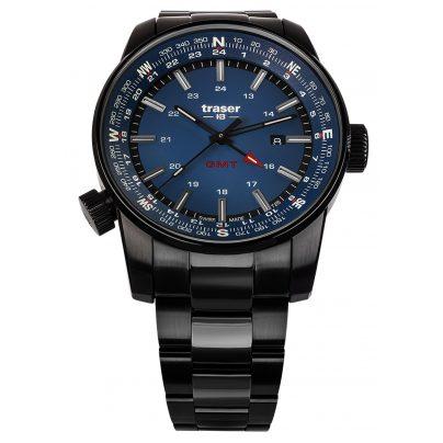 traser H3 109524 Herrenuhr P68 Pathfinder GMT Blau 7630027704747