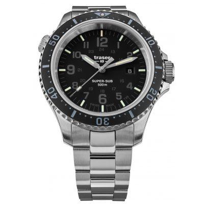 traser H3 109376 Men's Diver's Watch P67 SuperSub Special Set Black 7630027704501