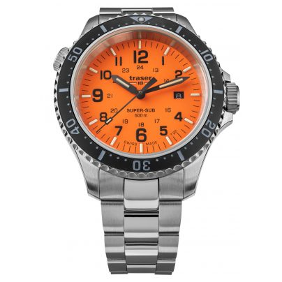 traser H3 109379 Taucheruhr für Herren P67 SuperSub Spezial-Set Orange 7630027704532