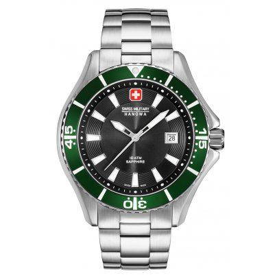Swiss Military Hanowa 06-5296.04.007.06 Men's Watch with Stainless Steel Bracelet Green 7612657094719