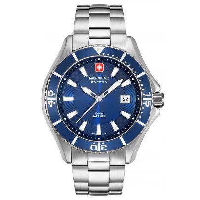 Swiss Military Hanowa 06-5296.04.003 Men's Watch with Stainless Steel Bracelet Blue 7612657094665