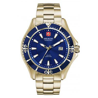 Swiss Military Hanowa 06-5296.02.003 Herrenuhr Nautila Gents Gold/Blau 7612657096577