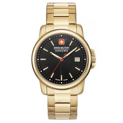 Swiss Military Hanowa 06-5230.7.02.007 Men's Watch Swiss Recruit II Gold Tone/Black 7620958000278