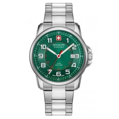 Swiss Military Hanowa 06-5330.04.006 Herrenuhr Swiss Grenadier Edelstahl/Grün 7612657097772