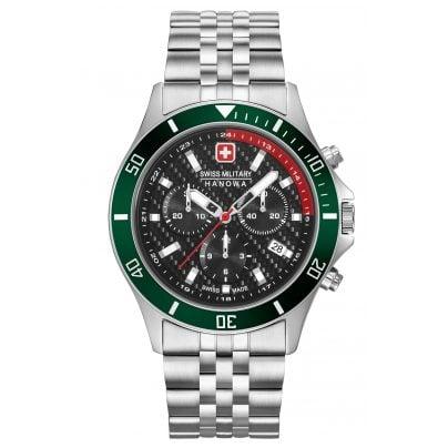Swiss Military Hanowa 06-5337.04.007.06 Men's Watch Flagship Racer Chrono Stainless Steel 7620958001152