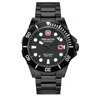 Swiss Military Hanowa 06-5338.13.007 Herren-Taucheruhr Offshore Diver Schwarz 7620958001220