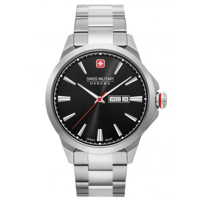 Swiss Military Hanowa 06-5346.04.007 Men's Watch Day Date Classic Stainless Steel Black 7620958001657
