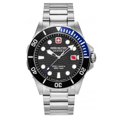 Swiss Military Hanowa 06-5338.04.007.03 Men's Watch Offshore Diver Stainless Steel Black 7620958001206