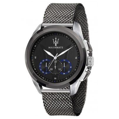 Maserati R8873612006 Chronograph für Herren Traguardo grau/schwarz 8033288795117