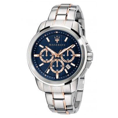 Maserati R8873621008 Herren-Armbanduhr Chronograph Successo bicolor 8033288837497