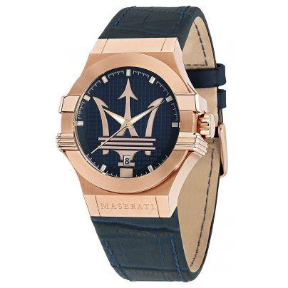 Maserati R8851108027 Herrenuhr Potenza blau/roségold 8033288766889