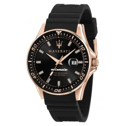 Maserati R8821140001 Automatic Watch for Men Sfida black/rose gold 8033288894667