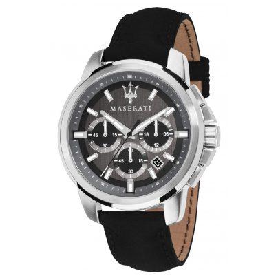 Maserati R8871621006 Herrenuhr Chronograph Successo mit Lederband 8033288792369
