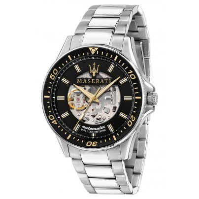 Maserati R8823140002 Men's Automatic Watch Sfida with Skeleton Dial 8033288894681
