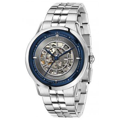 Maserati R8823133005 Herren-Armbanduhr Automatik Ricordo silber/blau 8033288890607