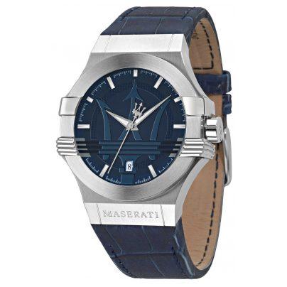 Maserati R8851108015 Herrenuhr Potenza blau/silber 8033288715030