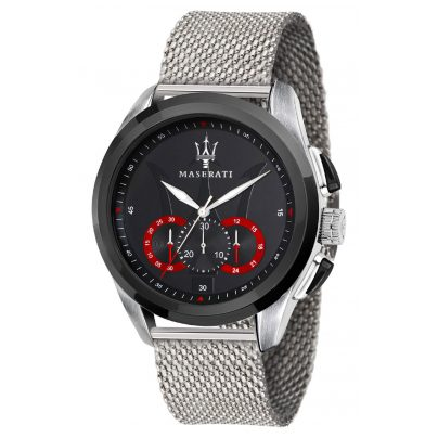 Maserati R8873612005 Herrenuhr Chronograph Traguardo mit Mesh-Armband 8033288795100