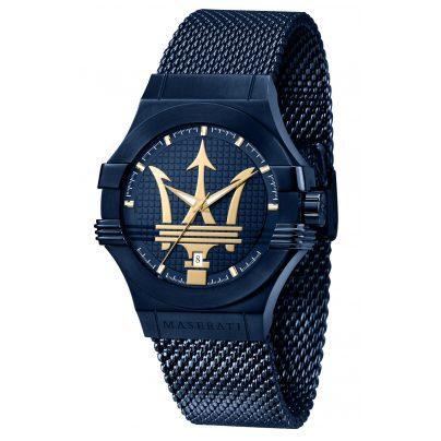 Maserati R8853108008 Men's Wristwatch blue/gold 8033288903611