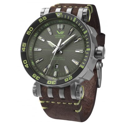 Vostok Europe NH35A-575H284 Mens Automatic Watch Energia Rocket Titanium 4260157447066